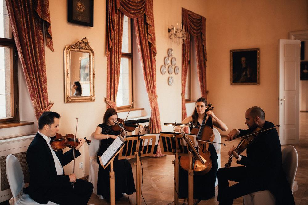 wedding string quartet in Prague