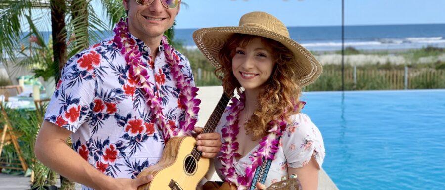 female ukulele player
