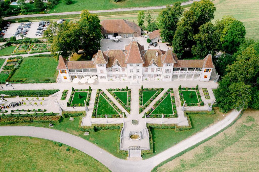 Schloss Waldegg aerial drone photo
