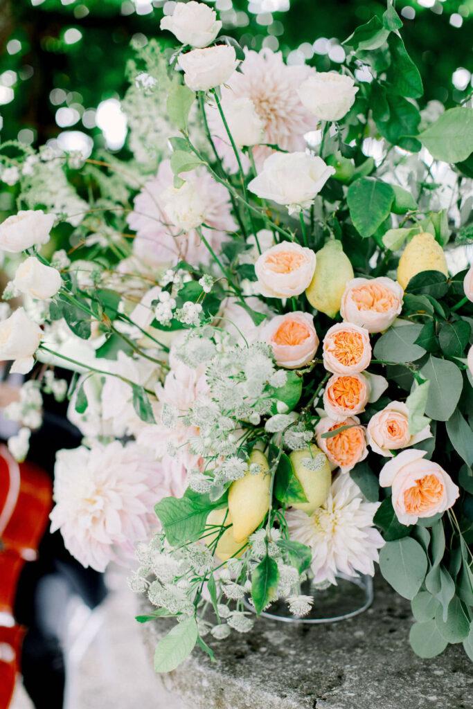 flower bouquet wedding at wldegg castle