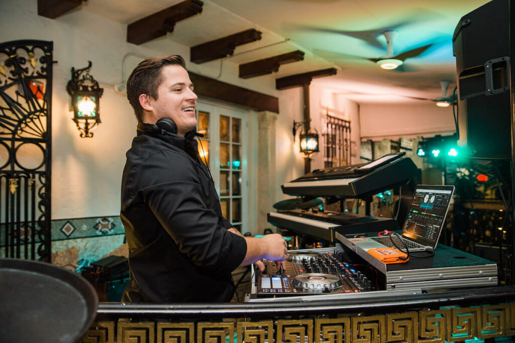 Kiral Artists DJ at the wedding at Versace Mansion