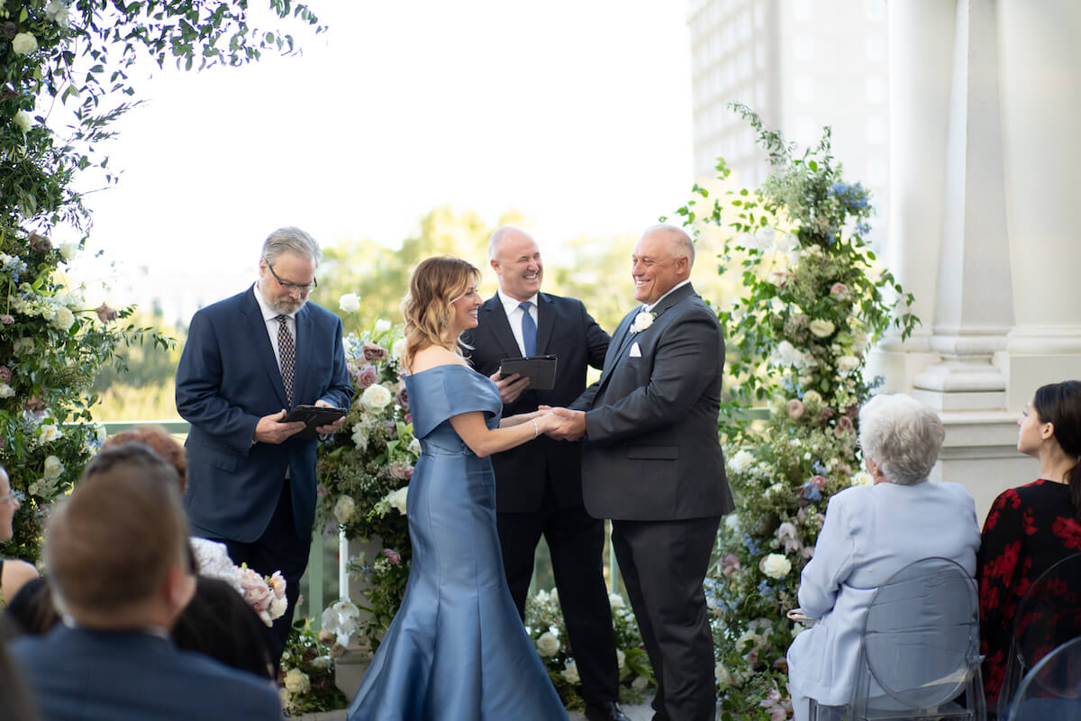Wedding Ceremony at Hotel Bennett in Charleston, SC