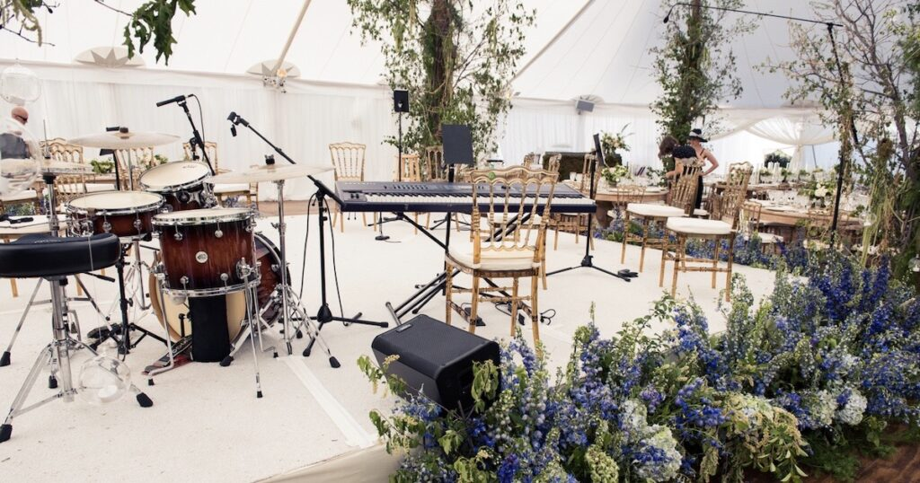 orchestra stage, wedding in aspen Kiral Artists